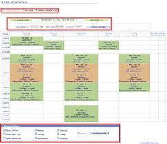 My Weekly Schedule Nau Its View My Schedule In Weekly Calendar View