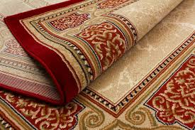 a red oriental rug after repair