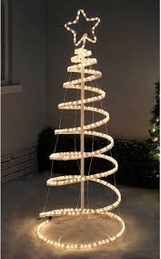 Christmas Outdoor Rope Light 3d Train 5ft Spiral Christmas Tree Rope Light Silhouette Warm White Led 3d Flashing Mode
