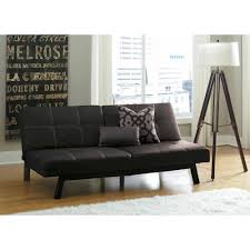 awesome black leather sofa bed and standing lighting and laminate floor