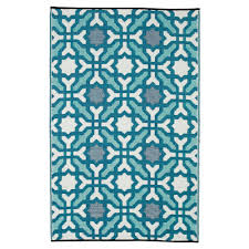 seville multicolor blue recycled indoor outdoor mat