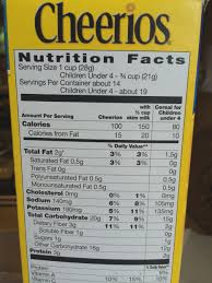 cheerios ings label honey nut cheerios cereal nutrition facts