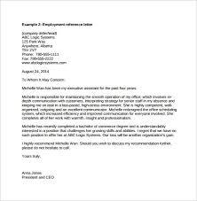 letter for job recommendation reference letter job template letter recommendation letter letter