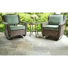 wicker patio rocker bay spring haven grey all weather wicker patio swivel rocker chair with bare cushion the home depot resin wicker patio rockers