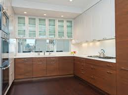 contemporary kitchen with glass panel complex marble in new york