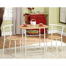 Dining room furniture small spaces Rectangular Bistro Set Piece For Small Space In Kitchen Dining Room Recreation Room Patio Or Deck This Furniture Piece Is Beautiful White And Natural And Will Living Room Design Amazoncom Bistro Set Piece For Small Space In Kitchen