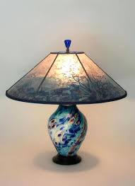 glass table lamp shades under the sea lamp and lamp shade lighted base art glass table glass table lamp shades