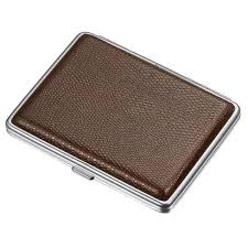 visol jack brown leather cigarette case