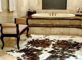 wellsuited cowhide bathroom rugs 20 lovely ways and sheepskin adorn a home