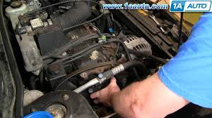 how to install replace serpentine belt tensioner chevy cavalier how to install replace serpentine belt tensioner chevy cavalier pontiac sunfire 95 97 1aauto com