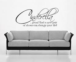 cinderella proof that a new pair of shoes wall art sticker quote bedroom 065 on bedroom wall art stickers quotes with cinderella proof that a new pair of shoes wall art sticker quote