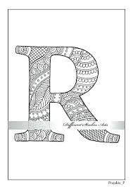 Idea Illuminated Letters Coloring Pages For Letter R Coloring Pages