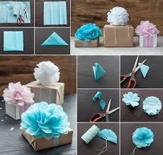 Tissue Paper Flower How To Make How To Make Tissue Paper Flowers For Gift Wrapping How To Instructions
