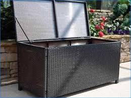outdoor black wicker patio furniture storage deck box