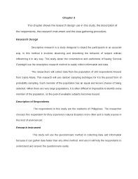 Chapter 3 Research Design Sample Ewan Ko Sa Iyo Arte Mo Naman Docsity