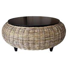 interesting wicker coffee table round tables storage chest wooden furniture