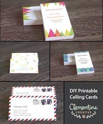 Free Diy Printable Business Card Template E T S Y Pinterest