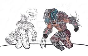 Small Picture Alien vs Predator Coloring Fail 1 by Bender18 on DeviantArt