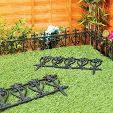 garden edging fence. Victorian Style Black Fencing Garden Edging - Ornate Fence Border For Lawn / Flowerbed: Amazon.co.uk: \u0026 Outdoors X