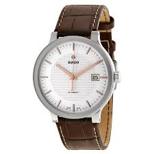 rado centrix automatic silver dial brown leather men s watch rado centrix automatic silver dial brown leather men s watch r30939125