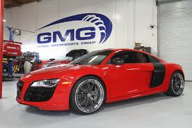 2011 Red Audi R8 V10 with GMG Exhaust and Roll Bar