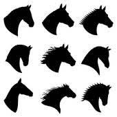 horse head clipart. Beautiful Horse Horse Head Vector Silhouettes With Head Clipart H