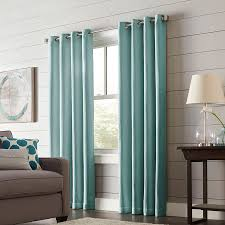 allen roth romanby 95 in mineral polyester grommet blackout thermal lined single curtain panel