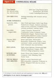 What Is Reverse Chronological Order Resume Resume Format Reverse