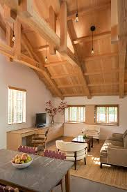 historic modern wood furniture. Historic Trusses Exposed By Renovation. Interior Wrapped Head-to-toe In Wood. The Flooring Is White Stained Oak. Modern Wood Furniture