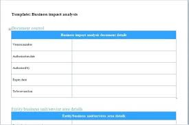 Excel Expense Report Template Free Download Business Impact Analysis ...
