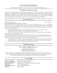 Technical Resume Template Unique Leadership Resume Template Team Leader Sample Engineering Senior