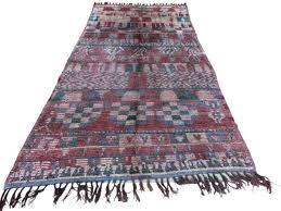 red c green handmade moroccan rug vintage berber long carpet large size