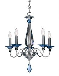 schonbek 9675 40cl jasmine 5 light crystal chandelier in silver with lear optic crystal