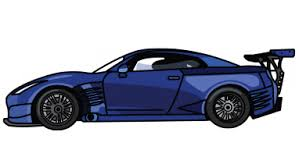 nissan skyline fast and furious drawing. Nissan GTR Fast And Furious StepbyStep Drawing Tutorial Step With Skyline