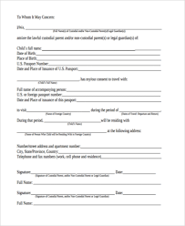 consent letter for child travelling with one parent child travel consent form sample free documents word pdf for outside canada fill online consent letter for children travelling abroad