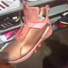puma shoes gold. shoes puma gold x rihanna sneakers rose o