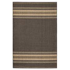 home decorators collection pueblo design black cocoa 5 ft x 8 ft area rug 3960030830 the home depot