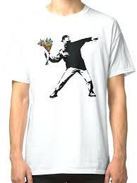 Wikipedia T Shirt Banksy Flower Thrower Aleicar Co