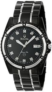 amazon com bulova men s 98d107 marine star bracelet mother of amazon com bulova men s 98d107 marine star bracelet mother of pearl dial watch bulova watches