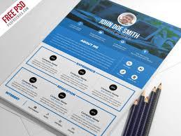 Freebie   Creative Resume Template Free PSD   free psd   UI Download