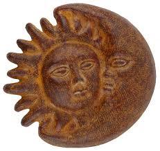 eclipse garden clay sun 14 inch wall