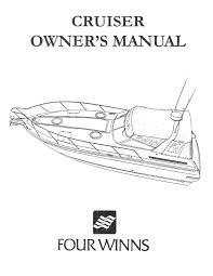 four winns cruiser owners manual