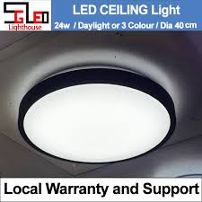 24w round black rim led ceiling light daylight