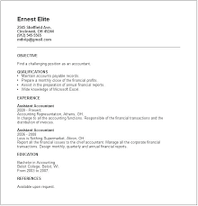 Sample Accounting Resume Objective Accounting Assistant Resume