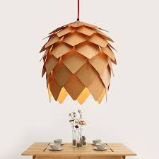 handmade lighting fixtures. Modern Handmade DIY Wood Pendant Light Pinecone Hanging Artichoke Lamp Home Decorative Fixtures AC100 240V-in Lights From Lighting N