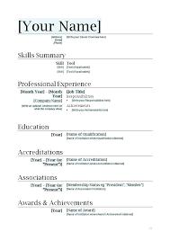 Template For Basic Resume Simple Curriculum Vitae Simple Resume