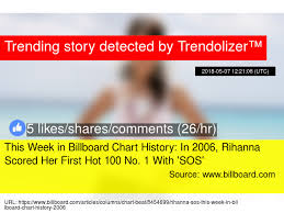 Billboard Charts 2006 This Week In Billboard Chart History In 2006 Rihanna