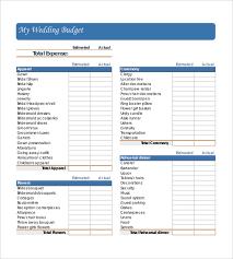 Sample Wedding Budget Spreadsheet 24 Wedding Budget Templates Free Sample Example Format