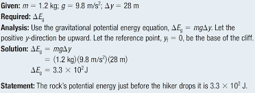 applying gravitational potential to determine mass