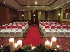 wedding ceremony set up in the european suite at the newcastle gateshead marriott hotel metrocentre